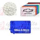 Reklamní plastové vizitky s mint pastilkami