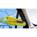 Reklamní bezpečnostní multifunkční kladívko a řezák na pásy a píštalka, přívěsek