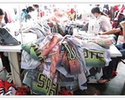 flag banner production