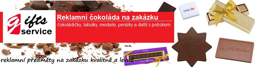 Reklamní čokoláda na zakázku