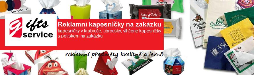 Reklamní kapesníčky na zakázku