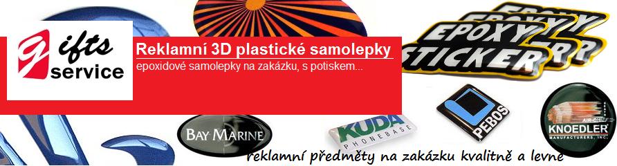 Reklamní plastické samolepky