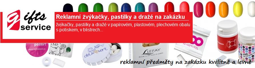 Reklamní žvýkačky, pastilky a dražé na zakázku