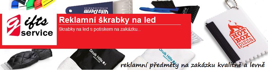 Reklamní škrabky na led na zakázku