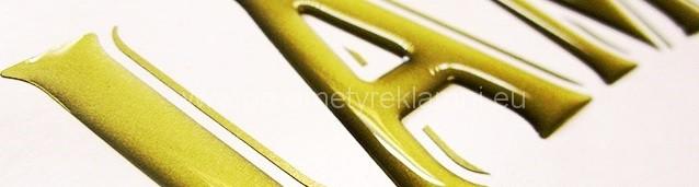 3D samolepky z metalické fólie na zakázku