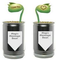 Reklamní rostliny v plechovce - kouzelná fazole se vzkazem