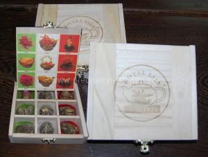 Květinové čaje dárkové sety v krabici s potiskem