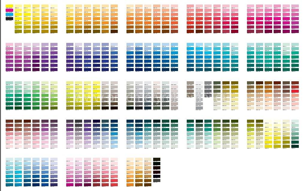 Reklamní předměty s potiskem Pantone® vzorník online