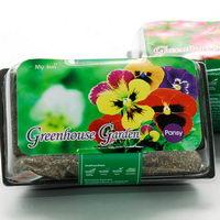 Květiny a bylinky v plastové misce s potiskem - maceška