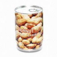 Rostlinky v plechovce s potiskem - arašídy