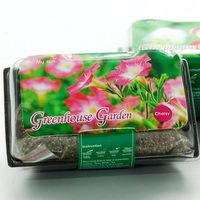 Květiny a bylinky v plastové misce s potiskem - jednoletka