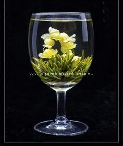Reklamní kvetoucí čaje jasmín a zelený čaj