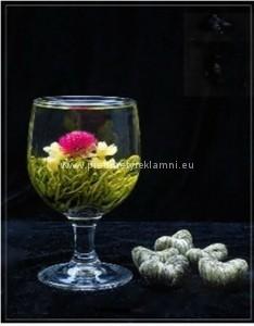 Reklamní kvetoucí čaje laskavcovka a jasmín