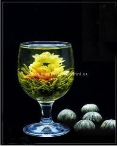 Reklamní kvetoucí čaje lilie a jasmín