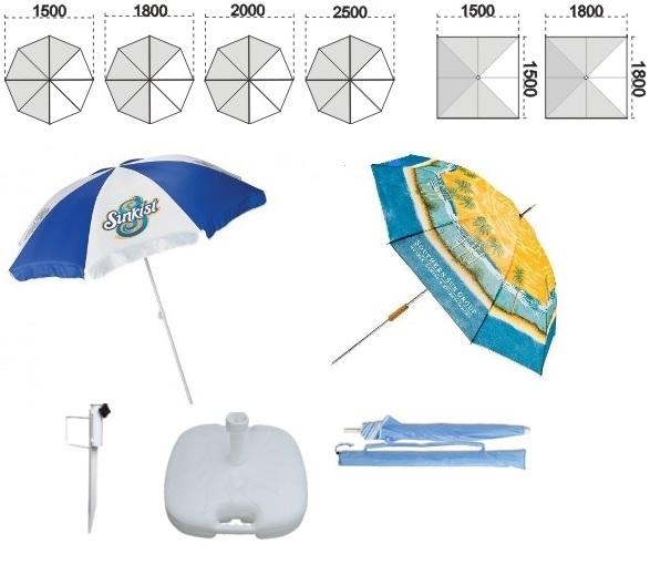 Reklamní plážové slunečníky na zakázku