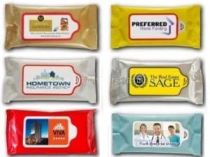 Reklamní vlhčené kapesníčky na zakázku