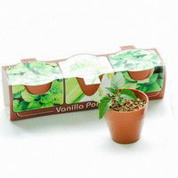 Rostlinky ovoce a zelenina v plastovém květináči s potiskem - vanilka