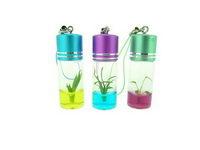 Rostlinky v plastové klíčence na zakázku