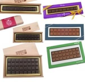 reklamní čokoládový text výrobce