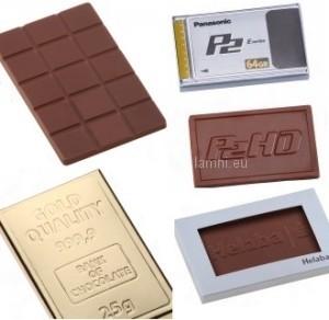 reklamní tabulka čokolády s potiskem