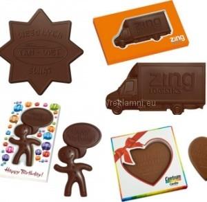 tvarovaná čokoláda na zakázku