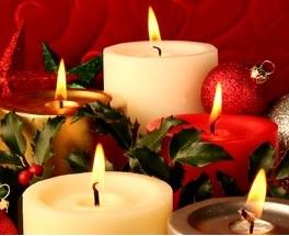 vánoční dekorace od výrobce - svíčky