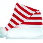 vánoční reklama - vánoční čepice s proužky na zakázku