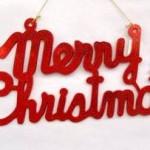 vánoční reklama - vánoční nápisy na zakázku