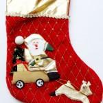 vánoční reklama - vánoční punčochy s logem na zakázku