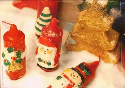 vánoční svíčky figurky na zakázku