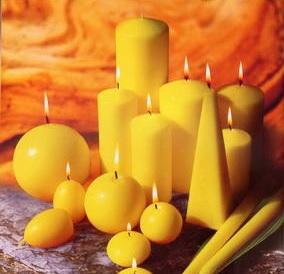 vánoční svíčky na zakázku tvary a barvy