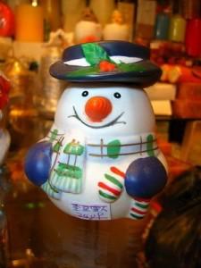 vánoční svíčky sněhulák na zakázku